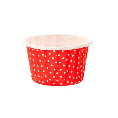 画像1: ミニ★カップ/赤×白ドット (1)