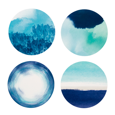 画像1: コースター/コーストブルー(12枚入り) (1)