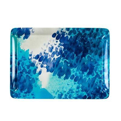 画像1: プラスチック皿・トレー/コーストブルー(長方形) (1)