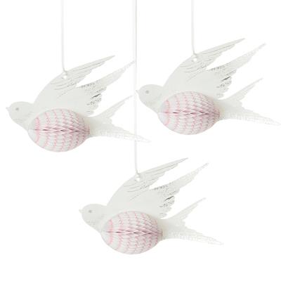 画像1: ハニカムボール/小鳥(ホワイト) (1)