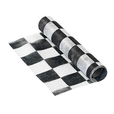 画像1: テーブルランナー/白黒チェック (1)