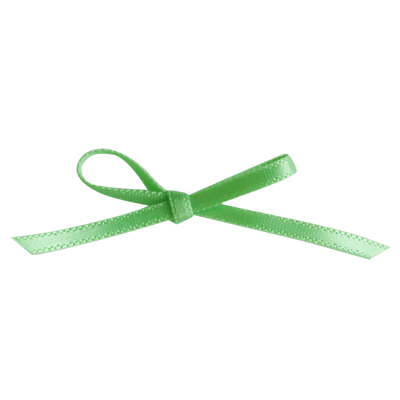 画像1: 〒 細いサテンリボン(2m)ライトグリーン (1)
