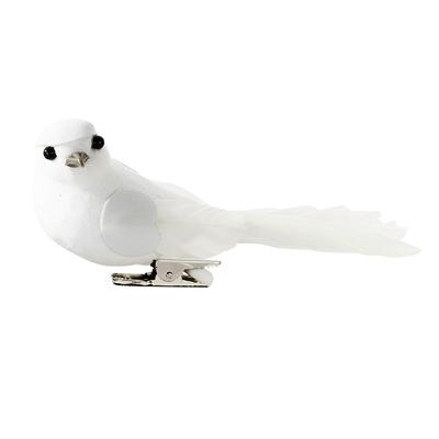 画像1: デコレーション/小鳥6羽セット(ホワイト) (1)