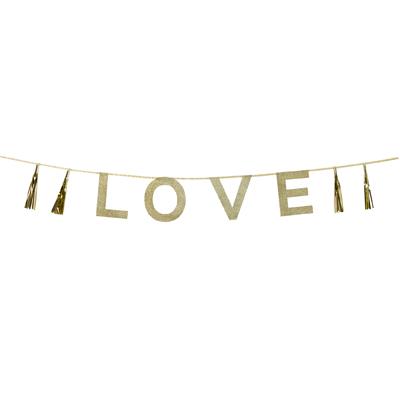 画像1: パーティバナー・ガーランド/Love (1)