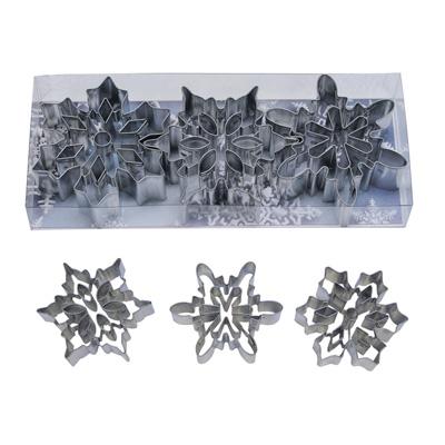 画像1: クッキー型3個セット(透明ケース)雪の結晶 (1)