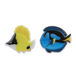画像1: ケーキリング/熱帯魚(2種4個入) (1)