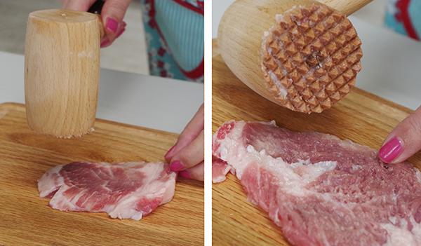 肉を柔らかくする肉たたき