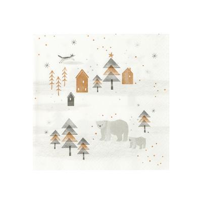 画像1: 〒 紙ナプキン(33cm)ノルディッククリスマス (1)