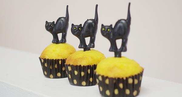 黒猫ケーキピック