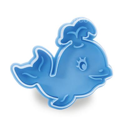 画像1: クッキー型(Stadter)スタンプ(バネ式)クジラ (1)