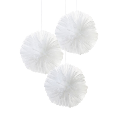 画像1: オーガンジー・ポンポンボール/ホワイトカラー (1)