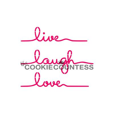 画像1: 〒 CC ステンシル/Live Laugh Love・メッセージ (1)