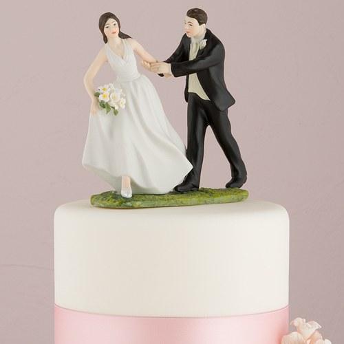 画像1: ウエディングケーキトッパー/駆け出す花嫁 (1)
