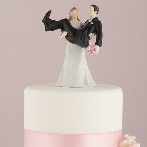 画像1: ウエディングケーキトッパー/力持ちな花嫁 (1)
