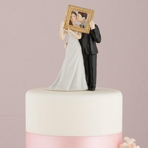 画像1: ウエディングケーキトッパー/額縁カップル (1)