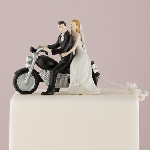 画像1: ウエディングケーキトッパー/バイクカップル (1)