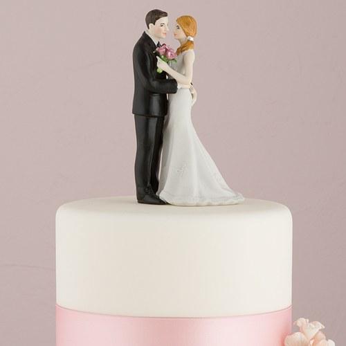 画像1: ウエディングケーキトッパー/腰に手をまわす花婿 (1)