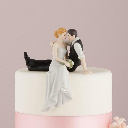 画像1: ウエディングケーキトッパー/座っている2人 (1)