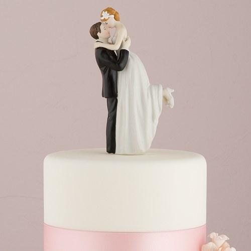 画像1: ウエディングケーキトッパー/抱き上げられる花嫁 (1)