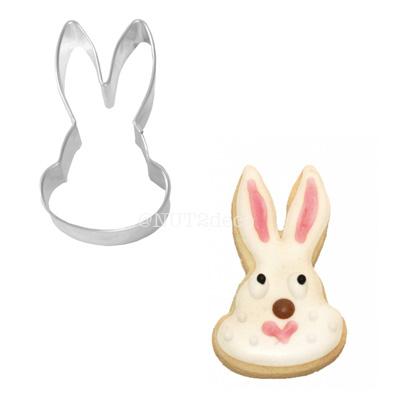 画像1: 〒 クッキー型(BIRKMANN)ウサギ顔 (1)