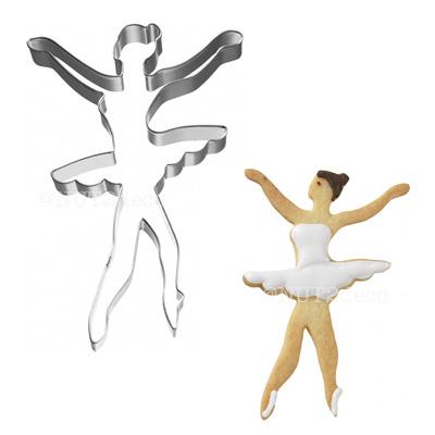 画像1: 〒 クッキー型(BIRKMANN)両手を上げたバレリーナ(ステンレス) (1)