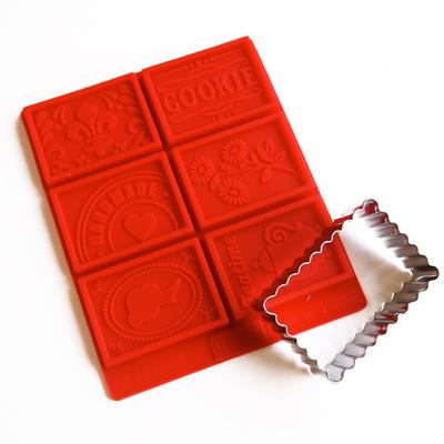画像1: BIRKMANN クッキー型セット/ぶるぶる長方形クッキー型+シリコン型 (1)