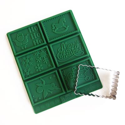 画像1: BIRKMANN 〒 クッキー型セット/ぶるぶる長方形〒 クッキー型+シリコン型(クリスマス) (1)