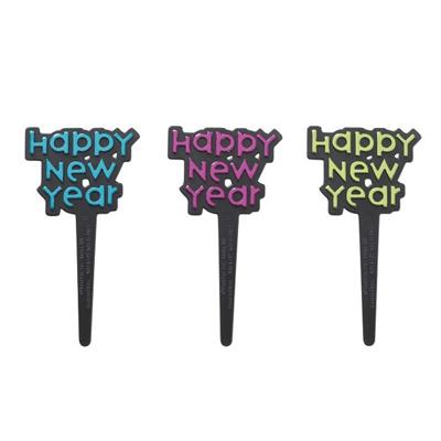 画像1: 〒 ケーキピック/HAPPY NEW YEAR (3本入) (1)
