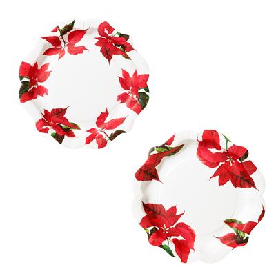 画像1: 紙皿(22cm)ポインセチア (1)