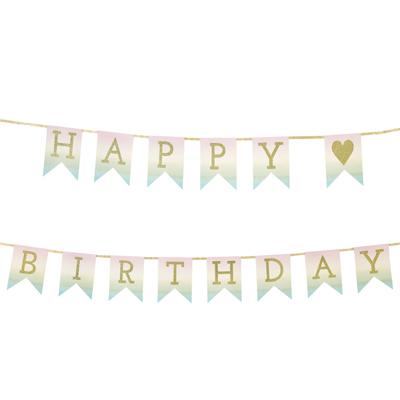 画像1: パーティバナー・ガーランド/Happy Birthday(パステル)バースデー (1)