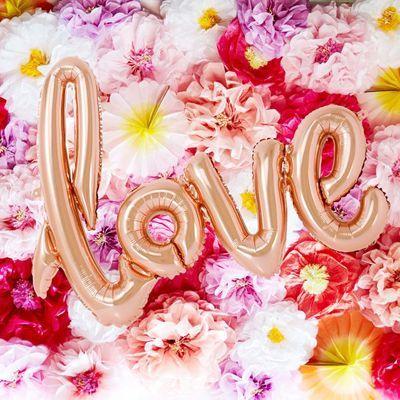 画像1: 風船・バルーンガーランド/LOVE(ピンクゴールド) (1)