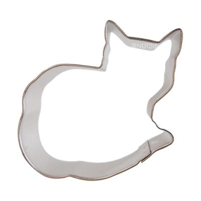 画像1: 〒 クッキー型/丸くなってるネコ (1)