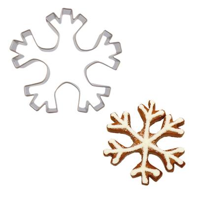 画像1: 〒 クッキー型(BIRKMANN)雪の結晶(5角)8cm【ステンレス】 (1)