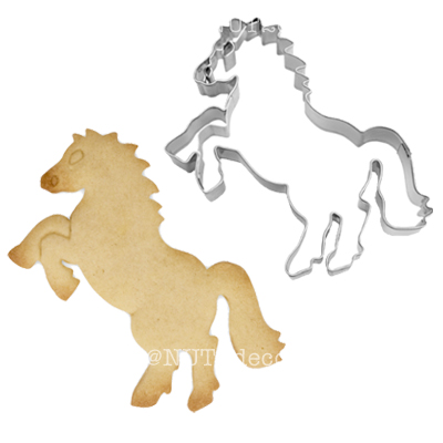 画像1: 〒 クッキー型(Stadter )立ち上がる馬(ステンレス) (1)