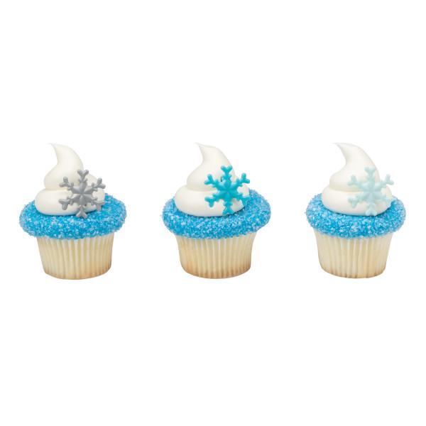 画像1: ケーキリング/雪の結晶(6個入) (1)
