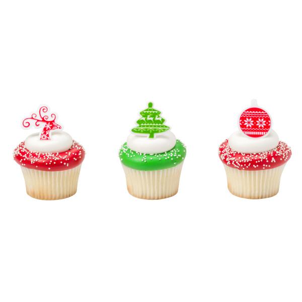画像1: ケーキリング/ノルディッククリスマス(3個入り) (1)