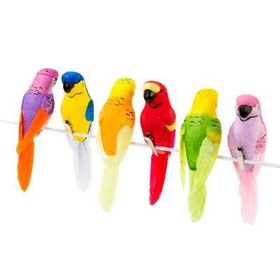 画像1: デコレーション/トロピカルな小鳥(クリップ) (1)