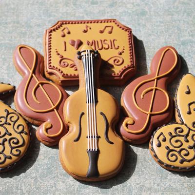 画像1: 〒 クッキー型(Ann Clark)バイオリン  (1)