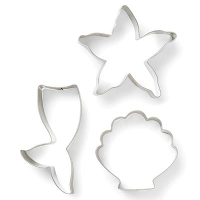 画像1: クッキー型(FoxRun)セット3個/マーメイド(ステンレス) (1)