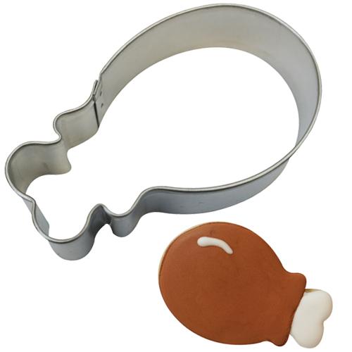 画像1: 〒 クッキー型/フライドチキン(ターキーレッグ) (1)