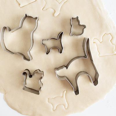 画像1: クッキー型(FoxRun)キャット(猫・ネコ)5個セット (1)