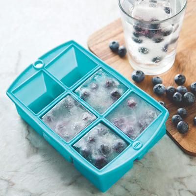 画像1: シリコン製 アイスキューブトレイ(製氷皿)メガサイズ(ブルー) (1)