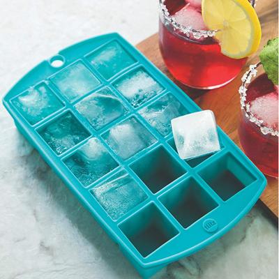 画像1: シリコン製 アイスキューブトレイ(製氷皿)ブルー (1)