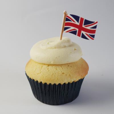 画像1: 〒 ケーキピック/イギリス国旗(5本入) (1)