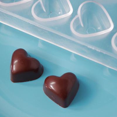 画像1: 〒 ポリカーボネート製チョコレート型/ハート ※1個までネコポス可 (1)
