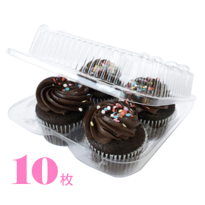 画像1: カップケーキプラケース/4個用(10枚入) (1)