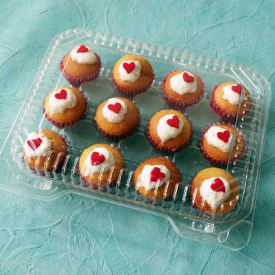 ミニ カップケーキプラケース 12個用 10枚入 Nut2deco