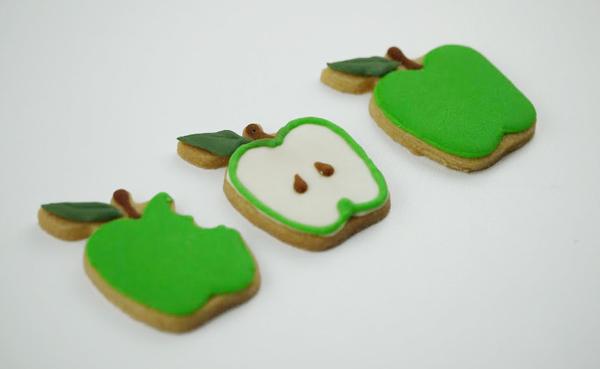 林檎のアイシングクッキー