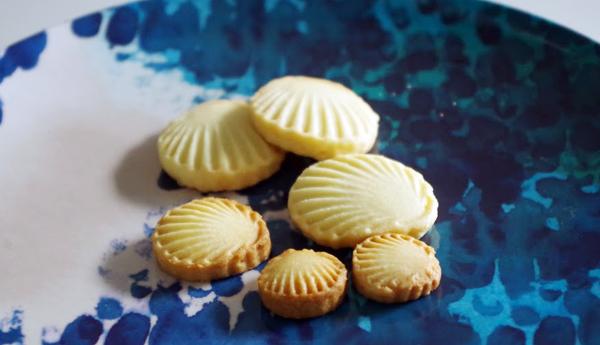 貝殻のクッキー大中小