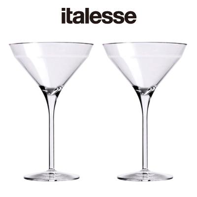 画像1: italesse マティーニグラス 2脚セット/クリア(プラスチック) (1)